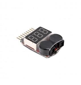 Voltmètre Lipo 1-8S avec buzzer