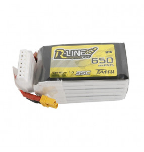 Tattu R-Line 650mAh 95C 22.2V 6S1P - XT30